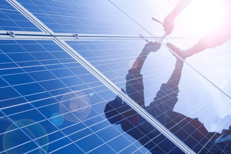 solar panel wiring instal